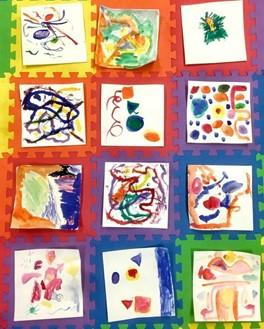 k-2 abstract paintings