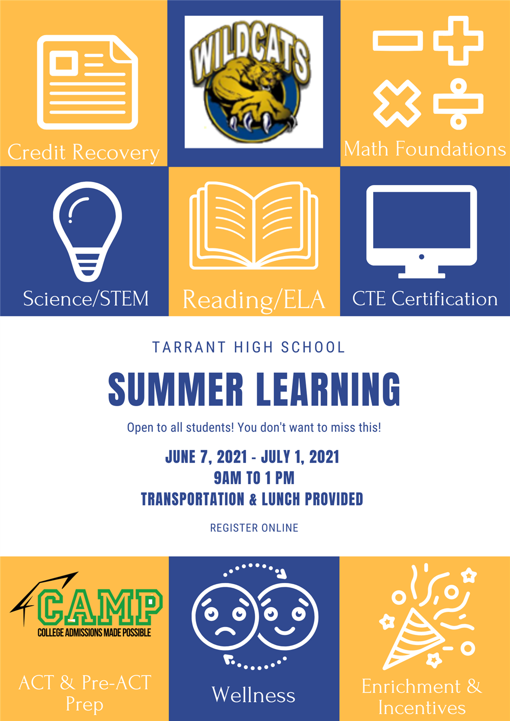 THS Summer Learning Registration